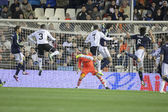 Corner kick during match between Valencia CF and Real Madrid — Stock Photo