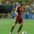 Постер, плакат: Defender Juanfran with a ball