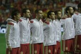 The Spanish team prior to the start UEFA EURO European Qualifiers game — Stock Photo