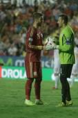 Sergio Ramos and Tome Pacovski (g) — Stock Photo