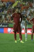Sergio Ramos ready to take a penalty kick — Stock Photo