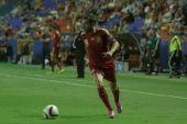 Defender Jordi Alba with a ball — Stok fotoğraf