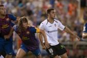 Busquets, Puyol and Rami in action — Foto de Stock