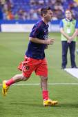 Messi of Barcelona warming up — Photo