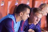 Xavi of Barcelona on the bench — Photo