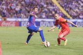 Iniesta of Barcelona in action — 图库照片
