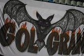 Banner with the image of a bat — 图库照片