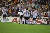 Jogadores do valencia comemorar gol — Foto Stock