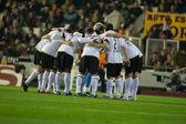 Valencia players — Stock Photo