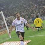 ������, ������: Juan Manuel Mata celebrates scoring a goal