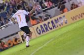 David Villa scores penalty — Stock Photo