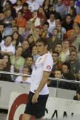 Joaquin making a corner kick — Foto de Stock