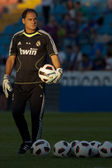 Goalkeeper coach Silvino de Almeida Louro during training before the match — Stock Photo