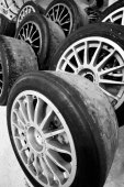 Tyres at International GT Open — Stock Photo
