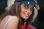 Girl at Qualifying FIA Formula One World Championship — Foto Stock