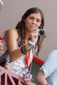 Grid Girl during European Grand Prix Formula 1 — Stock Photo