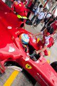 Fernando Alonso Avrupa Grand Prix Formula 1 sırasında — Stok fotoğraf