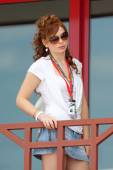Grid Girl at European Grand Prix Formula 1 — Stock Photo