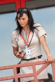 Grid Girl at European Grand Prix Formula 1 — Stockfoto