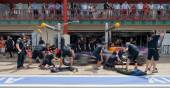 Red Bull Team during European Grand Prix Formula 1 — Foto de Stock