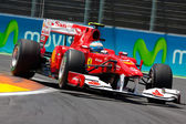 Fernando Alonso durante Europeu grande prémio de Fórmula 1 — Fotografia Stock