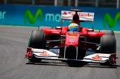 Alonso during  European Grand Prix Formula 1 — Stock Photo