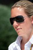 Grid Girl during European Grand Prix Formula 1 — Stockfoto