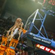 Alley-oop of Aguilar (L)  and  Lucic (R) — Stok fotoğraf #56537943