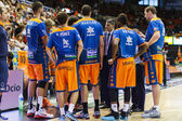 Valencia Basket Club  players and a coach Velimir Perasovic — Stock Photo