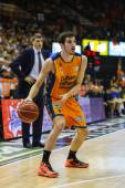 Valencia Basket Club player in action — Stock Photo