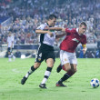 Nemanja Vidic (R) and David Navarro (L) in action — Stock Photo #57375387