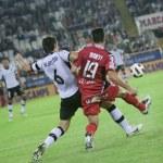 David Albelda (L) and Jose Luis Marti (R)  during the game — Stock Photo #57375911
