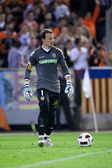 Goalkeeper Cesar Sanchez during the game — Stock Photo