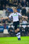 Marius Stankevicius celebrate scoring a goal — Stock Photo