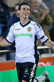 Aritz Aduriz  celebrate scoring goal — Stock Photo