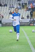 Goalkeeper Cesar Sanchez warming up — Stock Photo