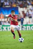 Rafael Da Silva during the game — Stock Photo