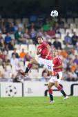 Rafael Da Silva during the game — Stockfoto