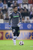 Goalkeeper Miguel Angel Moya during the game — Stock Photo