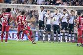 Ivan Ramis making a free kick — Foto de Stock