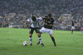 Alejandro Dominguez (L) and  Mikel San Jose (R) during the game — Foto de Stock