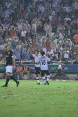 Valencia players celebrate scoring a goal — Fotografia Stock