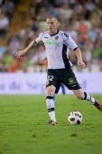 Jeremy Mathieu under spelet — Stockfoto