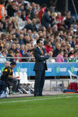 Coach Unai Emery during the game — Stock Photo