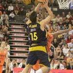 Spanish Basketball Liga game Valencia Basket against Estudiantes — Stock Photo #57711693