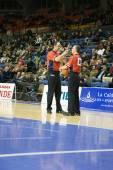 Eurocup game Valencia Basket against Sluc Nancy Basket — Stock Photo