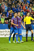 Levante players celebrating the goal — Foto Stock