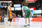 Nemanja Nedovic with ball and Stefan Markovic (R) in action — Stock Photo