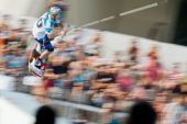 Athlete during performance at Red Bull Art of Wake — Stock Photo
