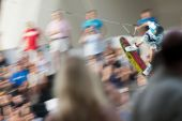 Sportovec při vystoupení na Red Bull Art probudit — Stock fotografie